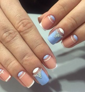 192 new french nails designs  french manicure trends 2020