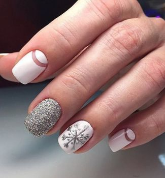 192 ideas of New Year and Christmas Nail Art Designs